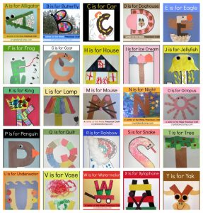 free alphabet templates letter of the week crafts for preschoolers x