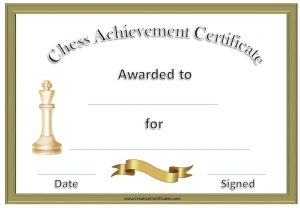free award templates chess certificates
