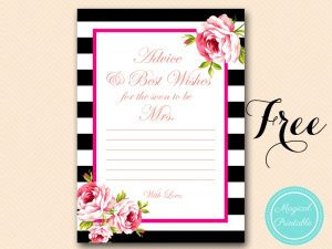 free baby shower invitations templates pdf free floral bridal shower game activity printable hot pink advice card x