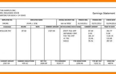 free bank statement template canadian pay stub template