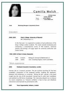 free basic resume templates cv curriculum vitae student sample for marketing manager in automotive sector x