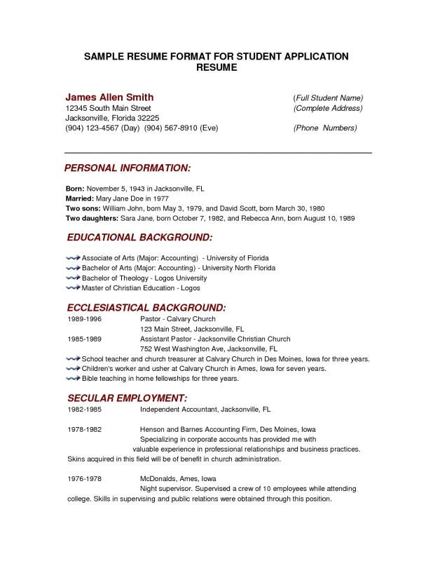 Free Basic Resume Templates Download  Free Basic Resume Templates Download