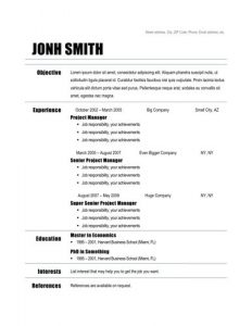 free basic resume templates download basic pdf free resume download