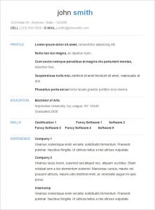 free basic resume templates download sample basic resume templte