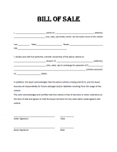 free bill of sale template free bill of sale template lszgjqn