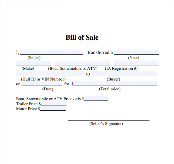 free as is bill of sale form