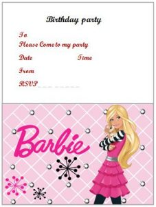 Free Birthday Invitation Templates For Adults Barbie Birthday Invitation  Word  Free Birthday Invitation Templates For Word