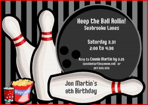 free birthday invitation templates for adults bowling party invitations for kids printable