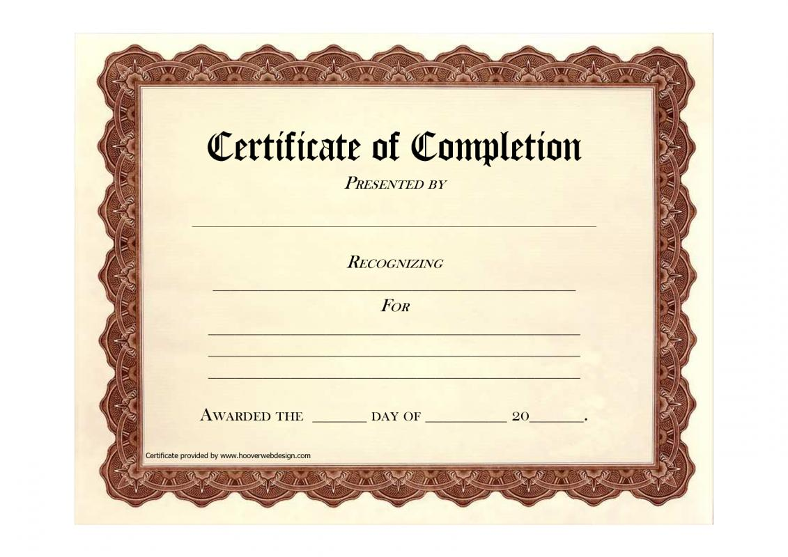 Free blank certificate templates template business for Free printable certificate templates