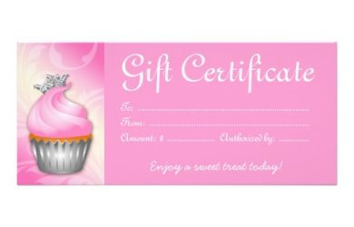 free blank certificate templates cupcake gift certificate template