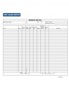 free blank spreadsheet templates residental rent roll d
