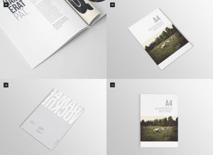 free book template psd book magazine mockups