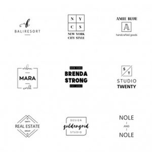 free box templates minimalist logo templates collection