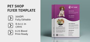 free brochure template downloads pet shop flyer template image