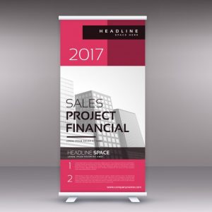 free brochure template downloads pink business standee template