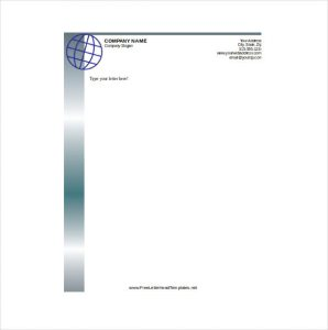 free business letterhead templates business letterhead with globe template download