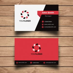 free business logo design and download simple red business card design