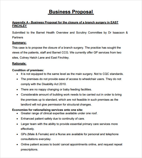 free business proposal template template business - Free Proposal Template