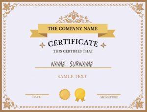 free certificate template certificate template design