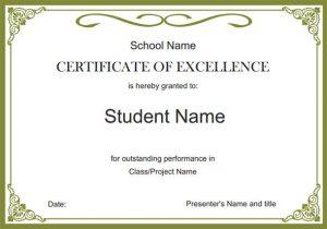 free certificate template free certificate templates