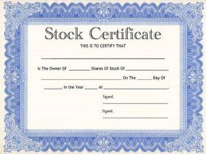 free certificate template stock certificate template
