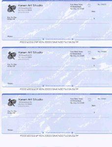 free check printing template preprinted per page blank check