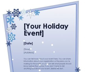 free christmas flyer templates holiday flyer template