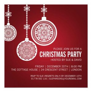 free christmas party invitations template elegant christmas party ornaments red invitation rcceadebbcdbaf zkyi