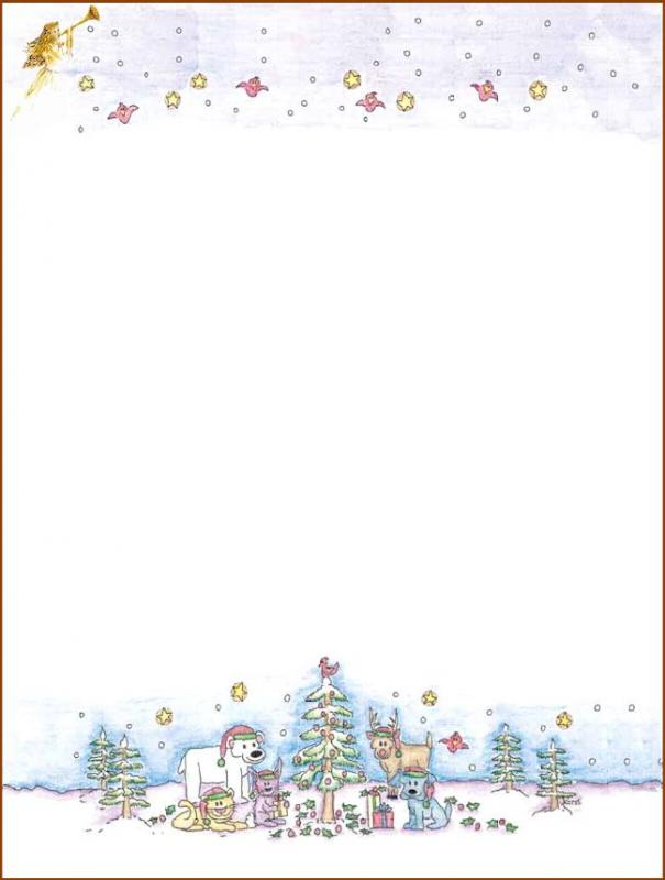 free christmas stationery templates