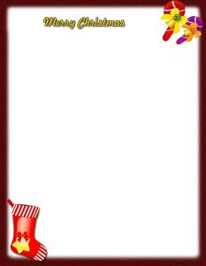 free christmas stationery templates freechristmasletterhead