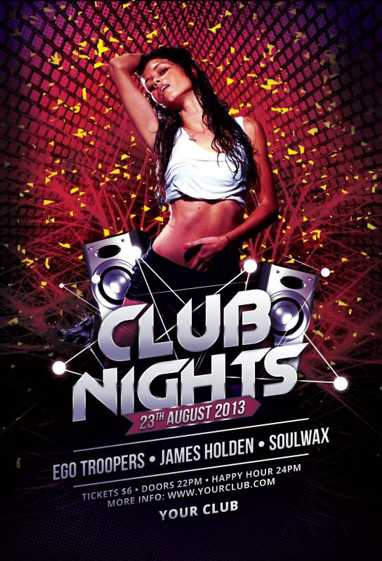 Free Club Flyer Templates  Template Business