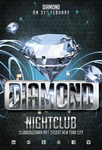 free club flyer templates diamond club template freepsdflyer com