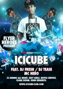 free club flyer templates icicube free psd flyer template