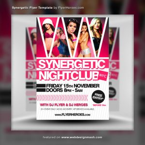 free club flyer templates synergetic flyer template