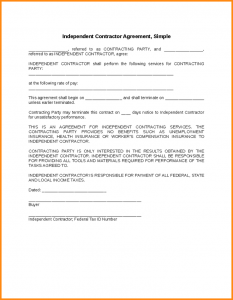 free construction contract template simple contractor agreement independent contractor agreement simple