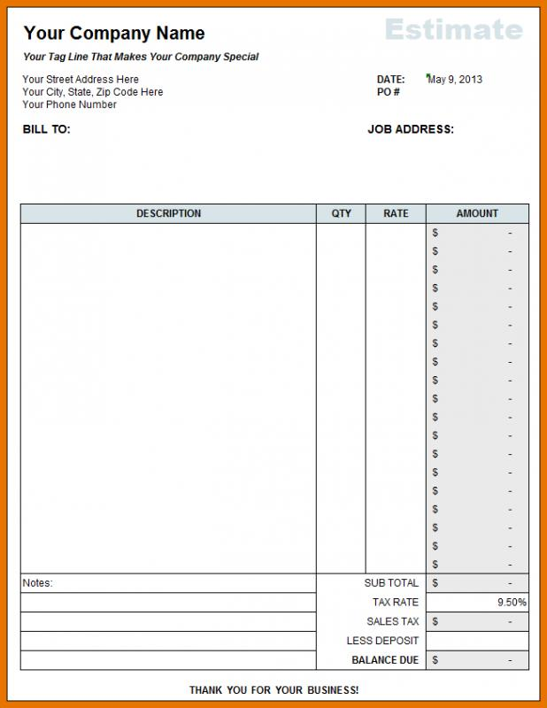 free construction estimate template excel koni polycode co