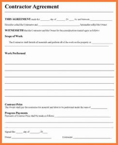 free contractor agreement template contractor contract template contractor agreement