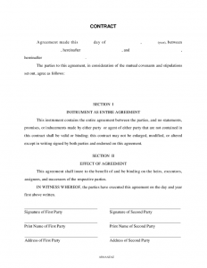 free contractor agreement template general contract