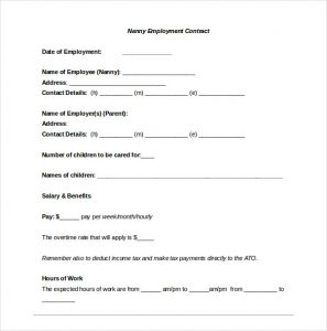 free contractor agreement template nanny confidentiality agreement