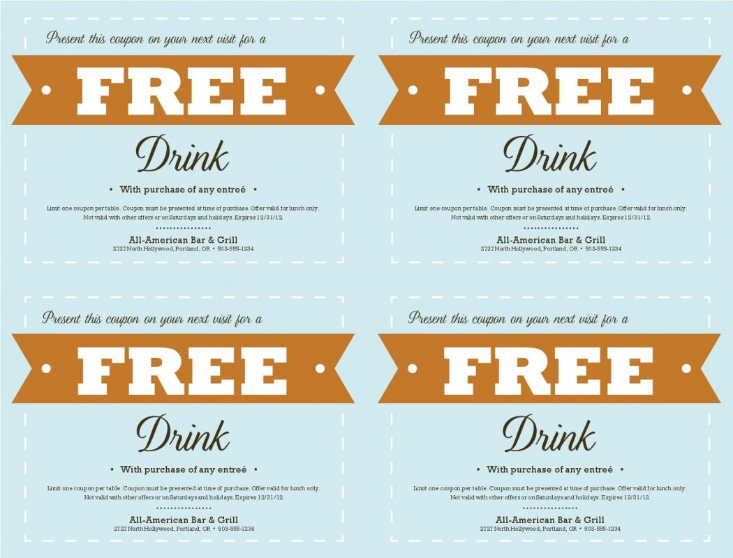 free printable restaurant coupons no download