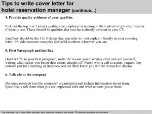 free cover letter samples hotel reservation manager cover letter