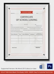 free diploma templates school leaving certificate template