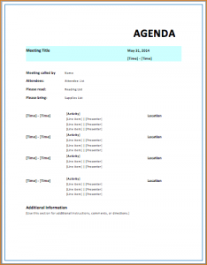 free doctors note meeting itinerary template strategic meeting agenda