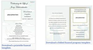 free editable funeral program template memorial service templates free