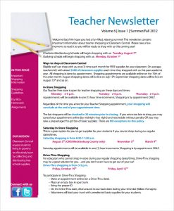 free editable newsletter templates for teachers blank teacher newsletter template