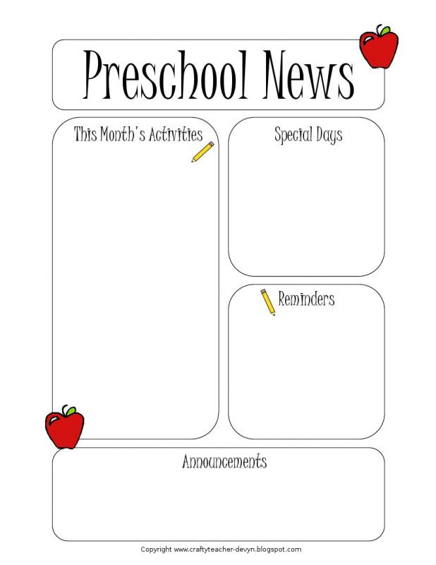 Teachers Pay Newsletter Template on free preschool, owl theme, for first grade,
