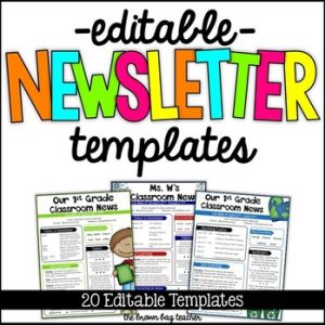 free editable newsletter templates for teachers original