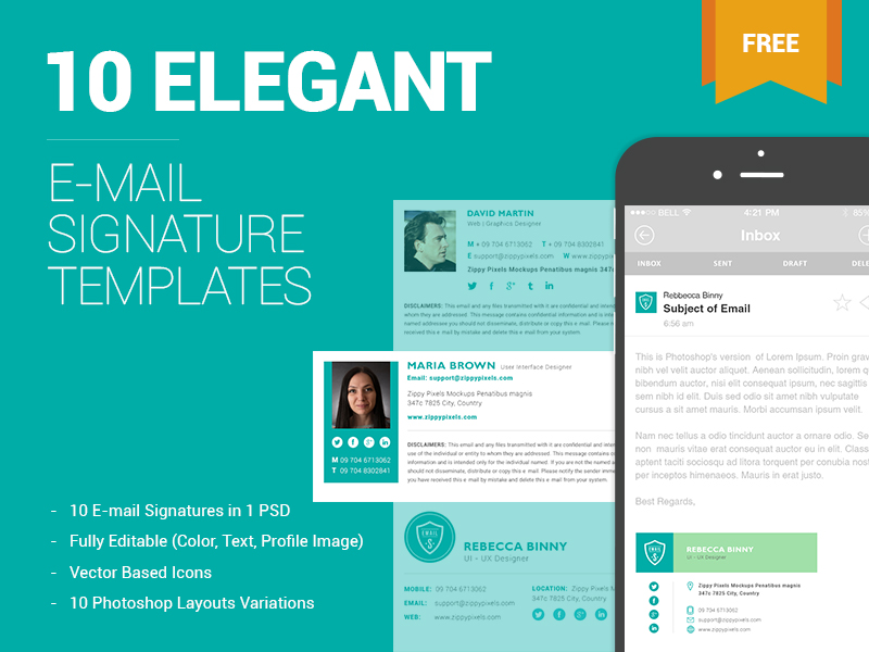 free email signature templates