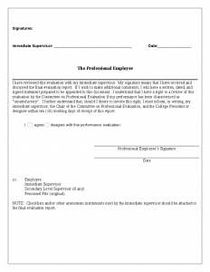 free employee evaluation form evaluation form professional employees