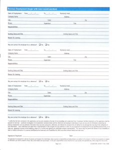 free employment application employment application page
